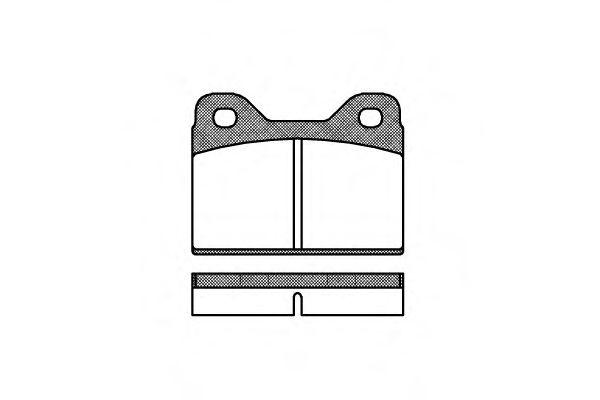 Колодки тормозные дисковые, к-кт. ROADHOUSE арт. 207300