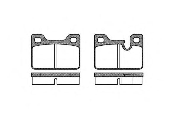 Колодки тормозные дисковые, к-кт.  арт. 211300