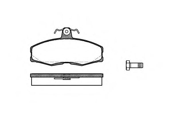 Колодки тормозные дисковые, к-кт.  арт. 215400