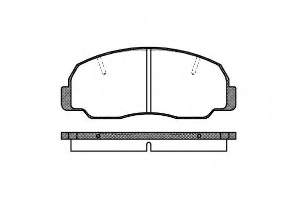 Комплект тормозных колодок, дисковый тормоз  арт. 217810