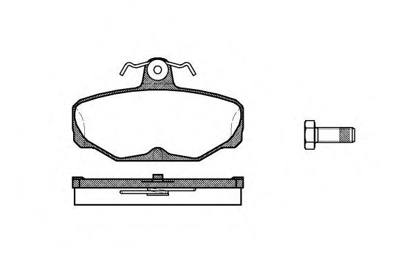 Колодки тормозные дисковые, к-кт.  арт. 220500