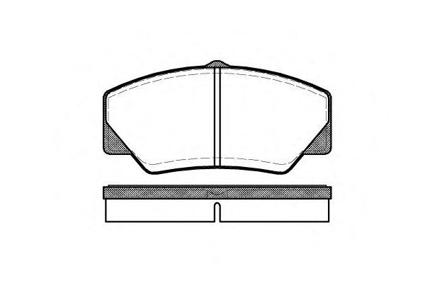 Колодки тормозные дисковые, к-кт.  арт. 220600
