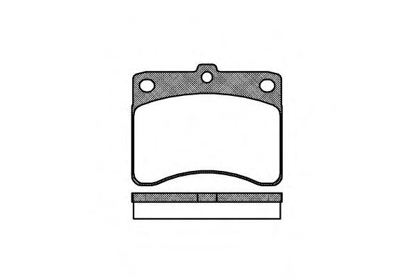 Колодки тормозные дисковые, к-кт.  арт. 223200
