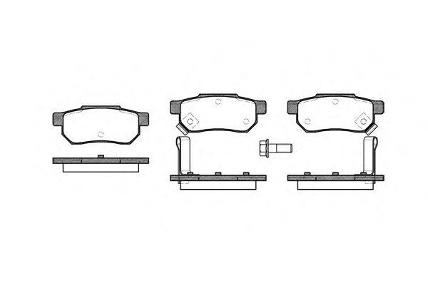 Колодки тормозные дисковые, к-кт.  арт. 223302