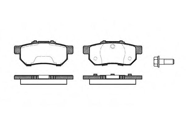 Колодки тормозные дисковые, к-кт.  арт. 223320