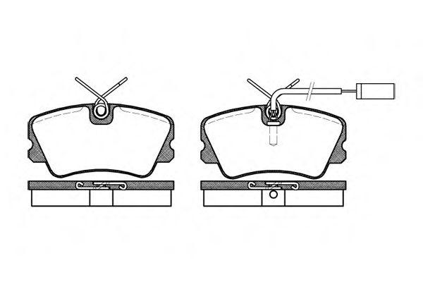 Колодки тормозные дисковые, к-кт.  арт. 225912
