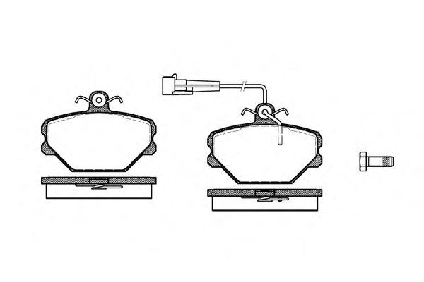 Колодки тормозные дисковые, к-кт.  арт. 226402