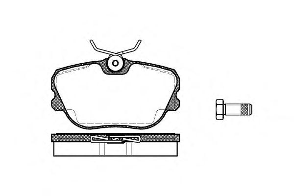 Колодки тормозные дисковые, к-кт.  арт. 228010