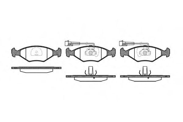 Колодки тормозные дисковые, к-кт.  арт. 228132