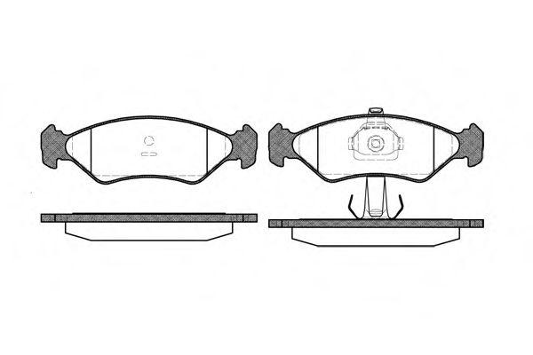 Колодки тормозные дисковые, к-кт.  арт. 228520