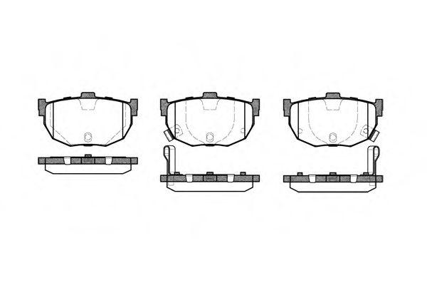Колодки тормозные дисковые, к-кт.  арт. 229422