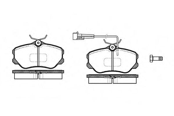 Колодки тормозные дисковые, к-кт.  арт. 230302
