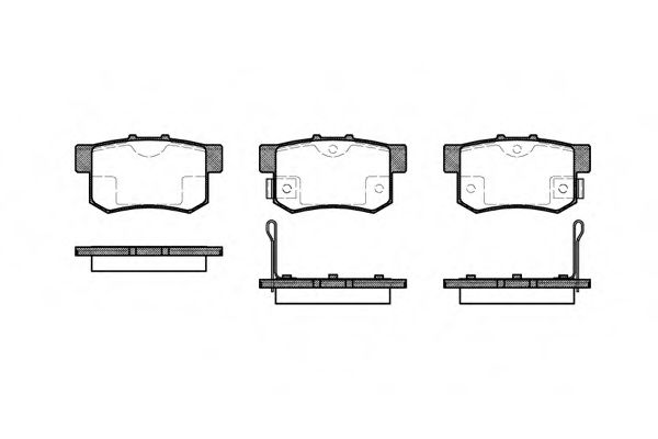 Колодки тормозные дисковые, к-кт.  арт. 232502