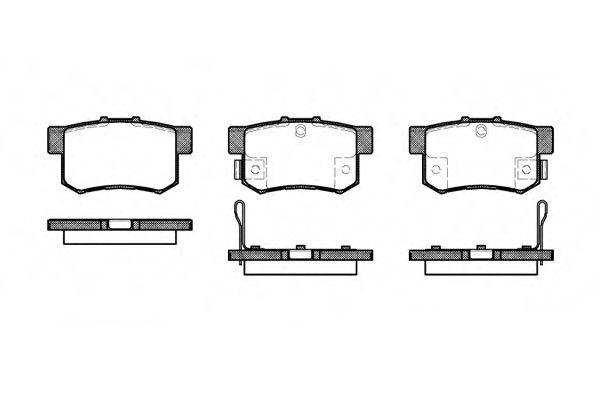 Комплект тормозных колодок, дисковый тормоз  арт. 232532