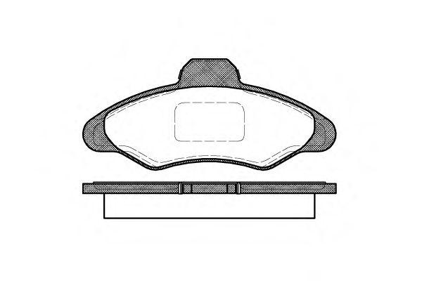 Колодки тормозные дисковые, к-кт.  арт. 233100