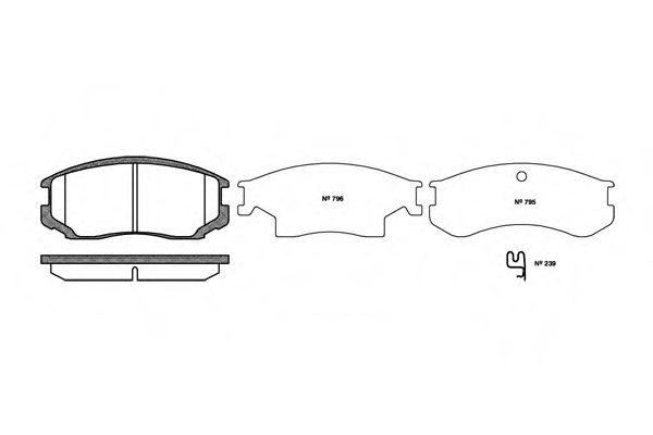 Колодки тормозные дисковые, к-кт.  арт. 235722
