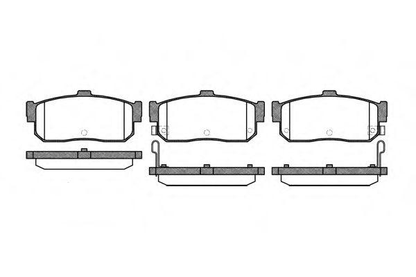 Колодки тормозные дисковые, к-кт.  арт. 236622