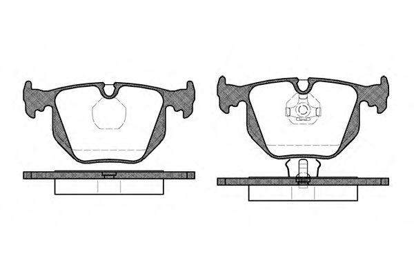 Колодки тормозные дисковые, к-кт.  арт. 238100