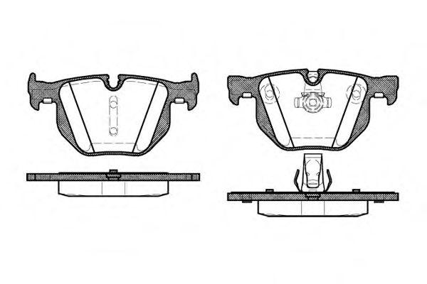 Колодки тормозные дисковые, к-кт.  арт. 238160