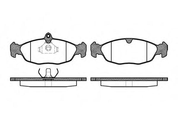 Тормозные колодки перед. Combo/Corsa -01/Astra/Vectra -96/Lanos ROADHOUSE 239300