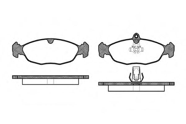 Колодки тормозные дисковые, к-кт.  арт. 239330