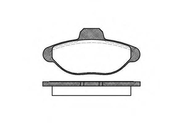 Колодки тормозные дисковые, к-кт.  арт. 241400