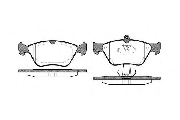 Колодки тормозные дисковые, к-кт.  арт. 246800