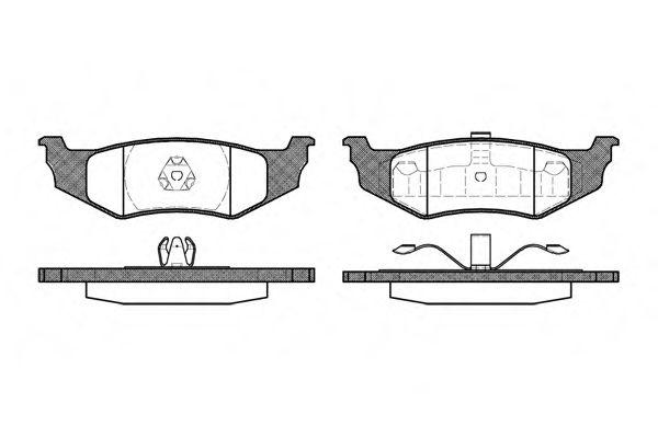 Колодки тормозные дисковые, к-кт.  арт. 248240