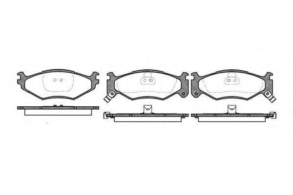 Колодки тормозные дисковые, к-кт.  арт. 248302