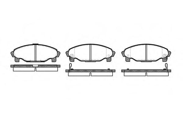 Колодки тормозные дисковые, к-кт.  арт. 250102