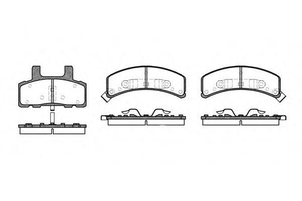 Колодки тормозные дисковые, к-кт.  арт. 255202