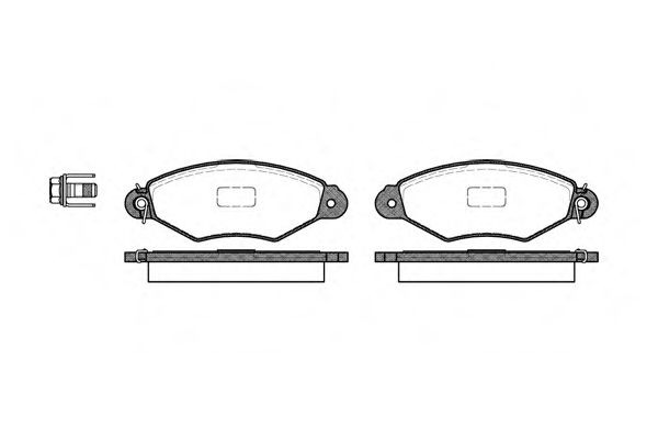 Колодки тормозные передн. Renault Kangoo/Nissan Kubisatr /Bosch L-130.8/ ROADHOUSE 264300