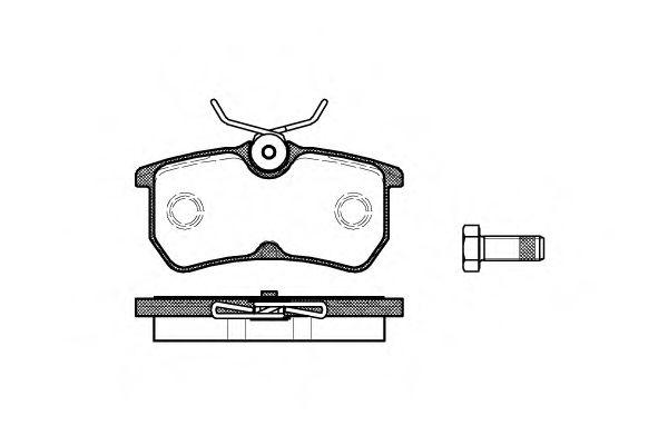 Колодки тормозные дисковые, к-кт.  арт. 269300