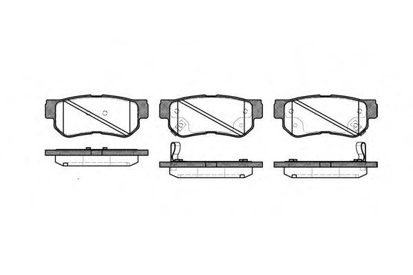 Колодки тормозные дисковые, к-кт.  арт. 274632