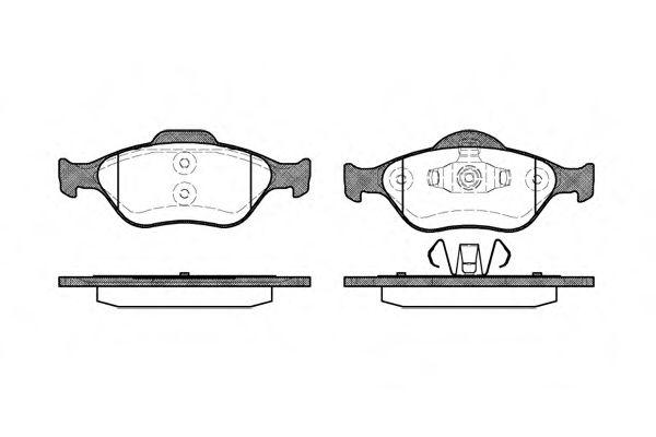 Колодки тормозные дисковые, к-кт.  арт. 276600