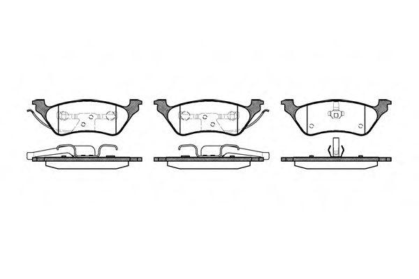 Колодки тормозные дисковые, к-кт.  арт. 281100