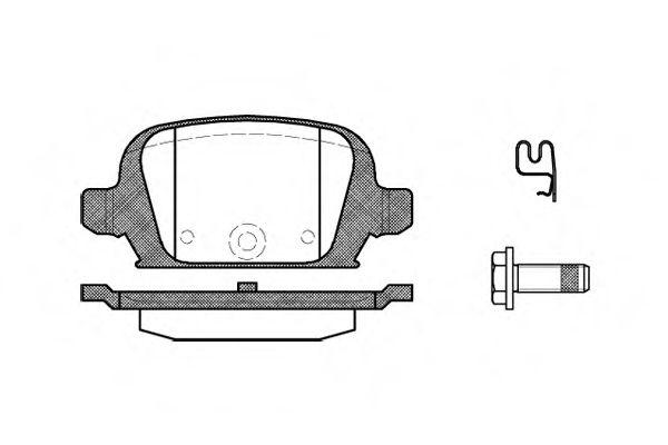 Тормозные колодки зад. Combo 1.7 DI/DTI 01-/Corsa C 00-09 ROADHOUSE 283502