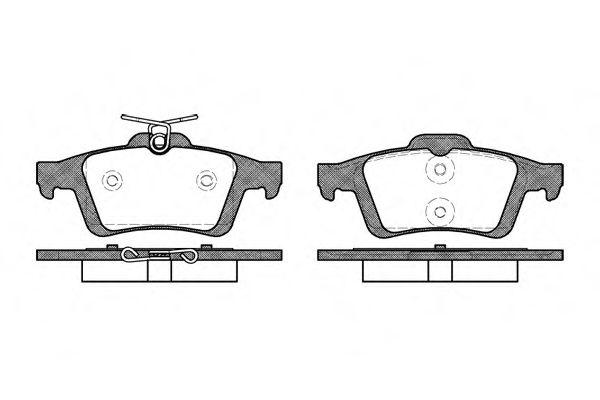 Колодки тормозные дисковые, к-кт.  арт. 284230
