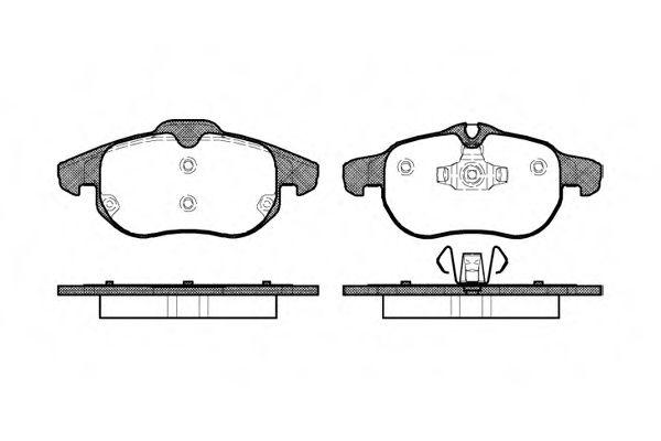 Колодки тормозные дисковые, к-кт.  арт. 288800