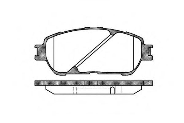 Колодки гальмівні дискові передні, комплект ROADHOUSE 289800
