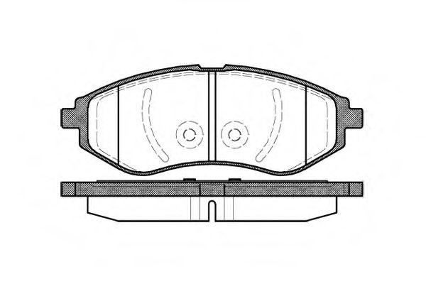 Комплект тормозных колодок, дисковый тормоз  арт. 298600