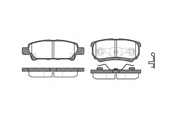 Колодки тормозные дисковые, к-кт.  арт. 2105102