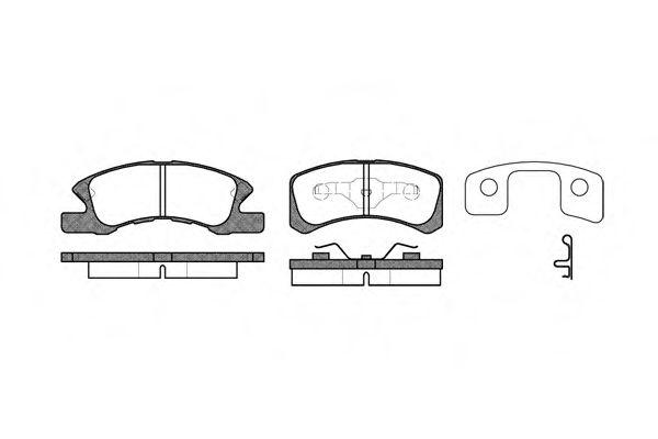 Колодки тормозные дисковые, к-кт.  арт. 2111102