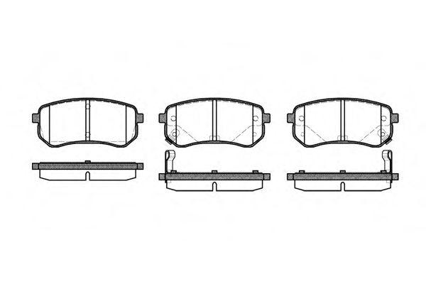 Колодки тормозные дисковые, к-кт.  арт. 2113502
