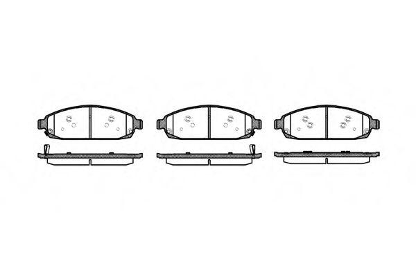 Колодки тормозные дисковые, к-кт.  арт. 2117302