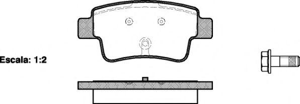 Колодки тормозные дисковые, к-кт.  арт. 2119800