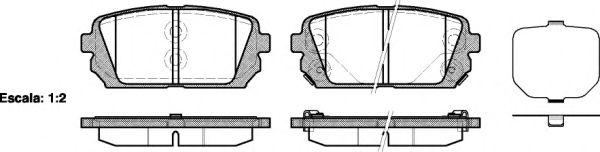 Колодки тормозные дисковые, к-кт.  арт. 2130302
