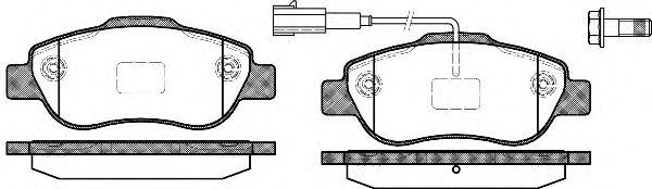 Колодки тормозные дисковые, к-кт.  арт. 2110011