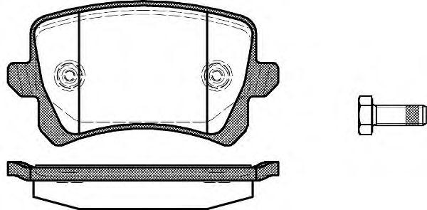 Колодки гальмівні дискові задн. VW Passat 05-/Sharan 10-/Tiguan 07- ROADHOUSE 2134200