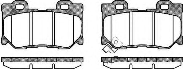 Колодки тормозные дисковые, к-кт.  арт. 2136501